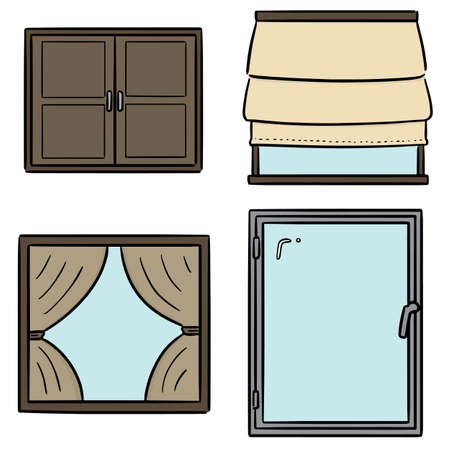 vector set of window Foto de archivo - 151581742