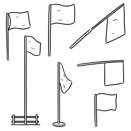 vector set of flags Çizim