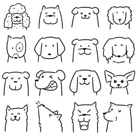 vector set of dog Stok Fotoğraf - 151581767