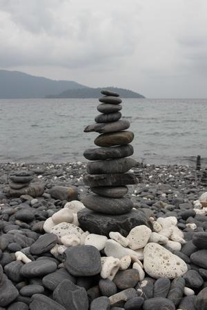 Stone at  Li pe island Thailand