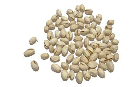 Almond on white background  Stock Photo