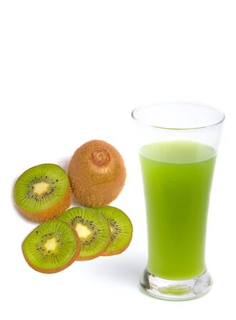 kiwi slice  on white background  Stock Photo - 13513561