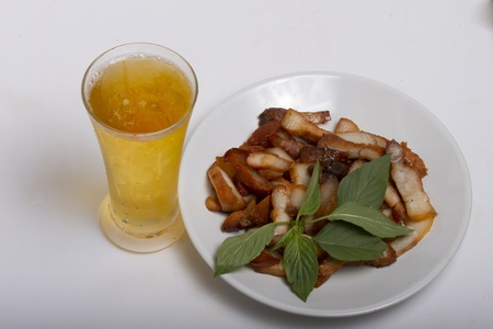pork and beer Stock Photo