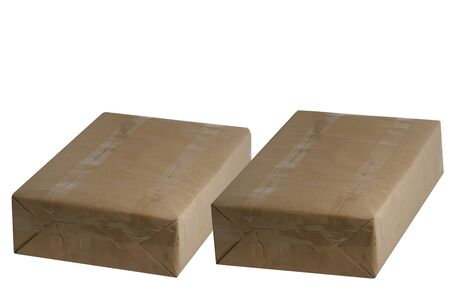 The parcels on white background