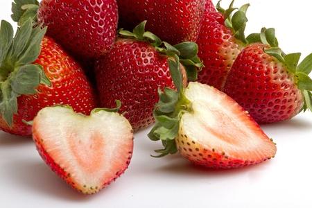 strawberry isolate Stock Photo