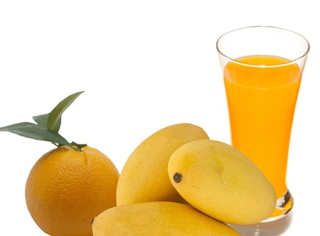 fruit and juice Stock Photo