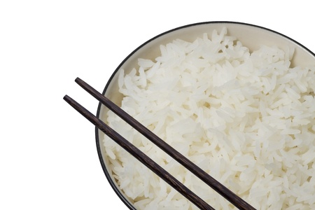 rice and bowl Stock Photo