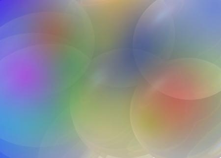 transparent colour and bubble Stock Photo