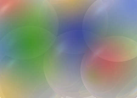 transparent color and bubble Stock Photo