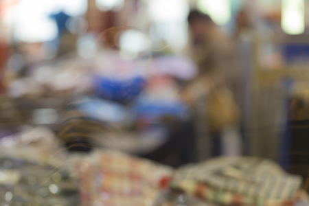 A blurry men in the market. Stock Photo