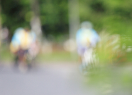 A blurry bike bicycle in Thailand. Stock Photo