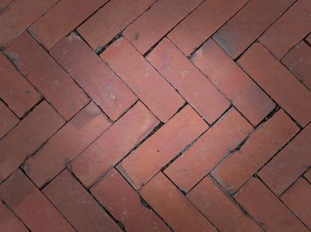 The floor is bricks.
