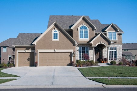 American average home living in the suburbs Stock Photo