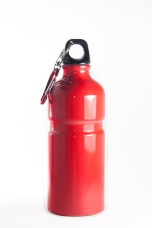 Metal Sport Flasche isoliert über weißem Hintergrund Standard-Bild - 4172926
