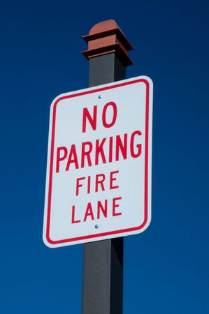 arobas: Not permitted to park on fire lane