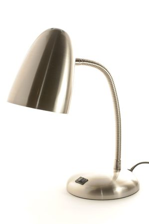 Stainless steel lamp isolated on white Stok Fotoğraf - 5570523