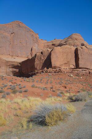 Rock formation at the Moab desert in Utah
