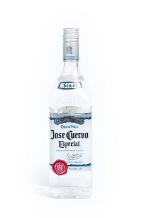 especial: Reno, USA, : December, 2nd 2011: Bottle of international liquor: Jose Cuervo Especial Silver