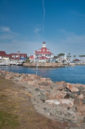 View of the downtown Long Beach California marina photo