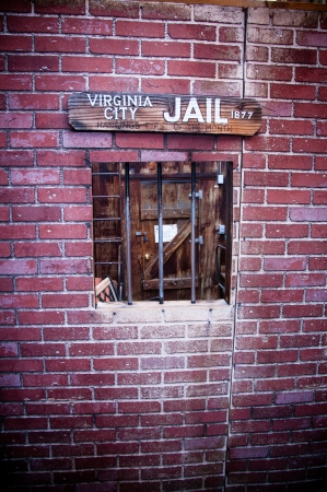 Wild american west old style jail window photo