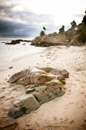 Rock formations in Laguna Beach, California photo