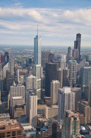 Downtown Chicago Gebäude von oben bei Sonnenuntergang angesehen Standard-Bild - 15069321