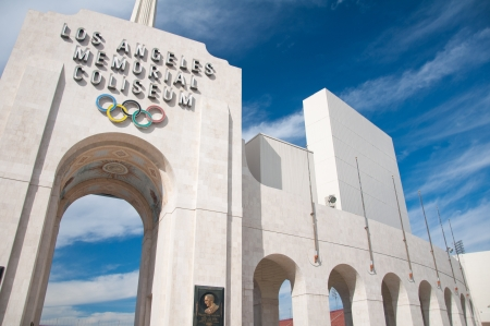 trojans: LOS ANGELES - OCTOBER 17: Memorial Coliseum is site of many landmark events including two summer Olympics the latest in 1984. The landmark building may become obsolete. October 17, 2011, Los Angeles