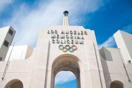 olympic sports: LOS ANGELES - OCTOBER 17: Memorial Coliseum is site of many landmark events including two summer Olympics the latest in 1984. The landmark building may become obsolete. October 17, 2011, Los Angeles
