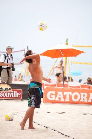 hermosa beach: HERMOSA BEACH, CA - JULY 18  The birthplace of beach volleyball hosts the annual AVP Hermosa Beach Open on July 18, 2010