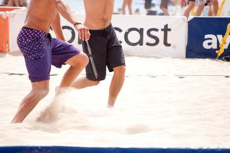 hermosa beach: HERMOSA BEACH, CA - JULY 18: The birthplace of beach volleyball hosts the annual AVP Hermosa Beach Open on July 18, 2010
