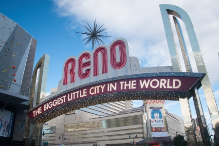 RENO - OCTOBER 16TH, 2011 : The original sign was built in 1926 to promote the Nevada Transcontinental Highway Exposition. The sign was last replaced in 1987.