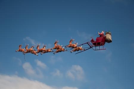 deer silhouette: Santa