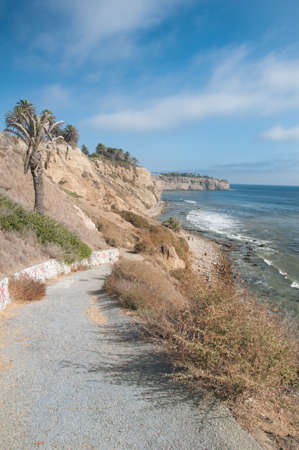 california coast: Beautiful nature landscape background by the coast in Palos Verdes California