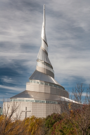 mormon: INDEPENDENCE,MOUSA  OCTOBER 19TH: The Temple  is the first site to be dedicated in the Latter Day Saint movement. Dedicated on August 3, 1831 by  Joseph Smith, Jr. October, 19 2008. Editorial