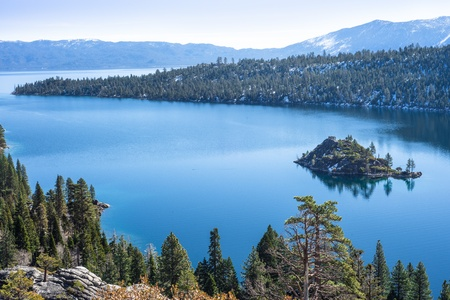 Emerald Bay in Lake Tahoe overlooking Fannette Island photo
