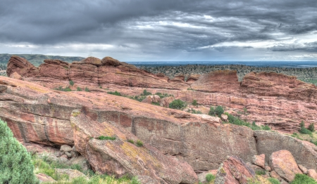 amphitheater: The Red Rocks Amphitheater lanscape formations  in Denver Colorado