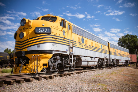 SEPTEMBER 28, 2014- GOLDEN, CO:The last operational F-unit on the Rio Grande, F9 No. 5771 powered the Rio Grande Zephyr passenger train between Denver and Salt Lake City from 1971 to 1983.