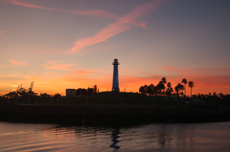 LONG BEACH, CA - DECEMBER 10, 2010: Famous Long Beach marina during sunset in California. December 10, 2010 in Long Beach, United States photo