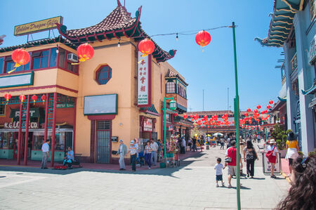 LOS ANGELES, CA - June 05,2010:  The colorful Chinatown on June 05, 2010. Officially Chinatown was founded June 25, 1938 in Los Angeles