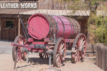 JUNE 22. 2010- Calico, CA:Calico is a ghost town and former mining town in San Bernardino County, California, United States. Was founded in 1881 as a silver mining town, and today has been converted into a county park. photo
