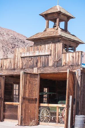 bernardino: JUNE 22. 2010- Calico, CA:Calico is a ghost town and former mining town in San Bernardino County, California, United States. Was founded in 1881 as a silver mining town, and today has been converted into a county park. Stock Photo