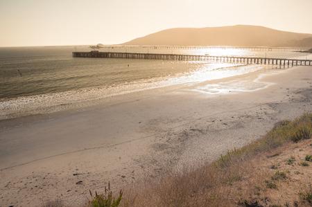 Beautiful sunset at Avila beach in California Stock Photo