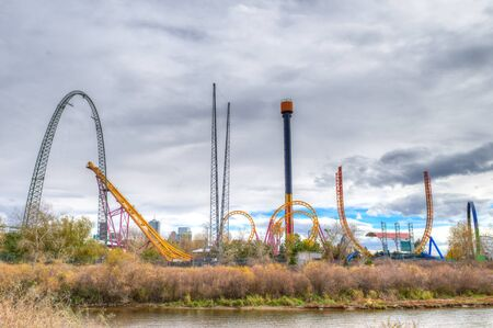 denver co: DENVER, CO - NOVEMBER 2, 2014: Elitch Gardens  Theme Park, locally known as Elitchs ;, is an amusement park in Denver, Colorado. Editorial