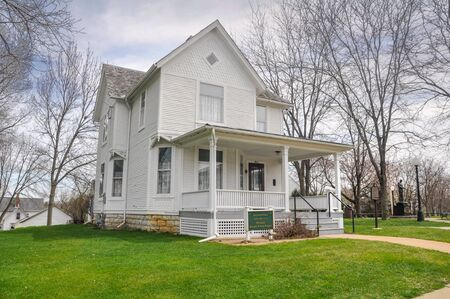 APRIL 23, 2009 - DIXON, IL: Boyhood home of President Ronald Wilson Reagan in Dixon, Illinois. Editorial
