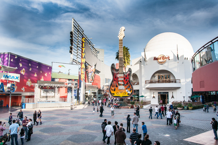 LOS ANGELES - JANUARY 16: Universal CityWalk Hollywood is a three-block entertainment, dining, shopping promenade. Options include more than 30 places to eat, a 19-screen movie theater featuring IMAX®, seven night spots, indoor skydiving and more than 30