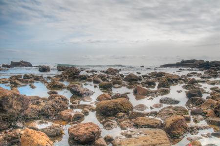Beautiful sky and beach in Laguna Beach, California