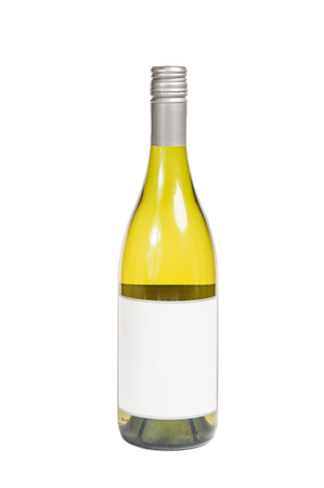 Generic white wine chardonnay bottle with blank lable