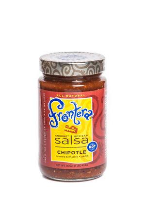 Reno, USA, : December, 2nd 2011: Jar of Rick Bayless Frontera Gourmet Chipotle Mexican Salsa