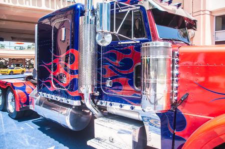 JULY 13, 2011- LOS ANGELES, CA:Transformers movie truck exhibition in Los Angeles, California.