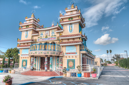 GARDEN GROVE, CA - NOVEMBER 21, 2010: There are about 20 Cao Dai churches or temples in California, including one in Garden Grove, serving about 25,000 people.